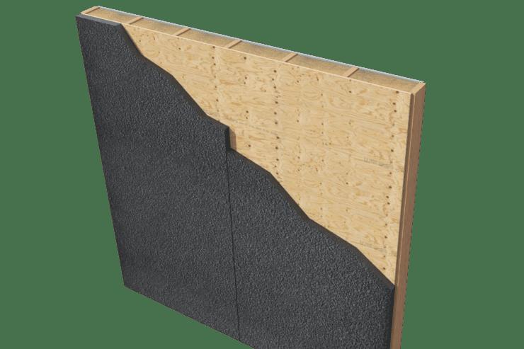 chrome over wood sheathing