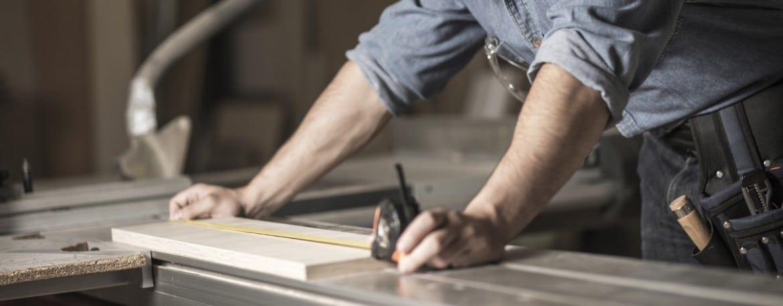 man-measuring